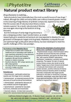Phytotitre natural product library flyer